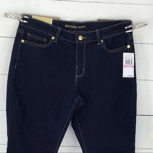 Michael Kors Izzy Straight Dark Wash Jeans NWT
